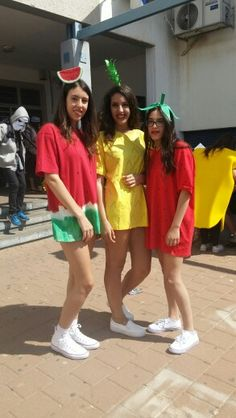ba6daca358d Fruits costume DIY watermelon pineapple  amp  strawberry costume. Made out  of T-Shirts