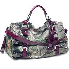 Realtree® APG Camo Satchel Bag with Multi Compartments Red Trim