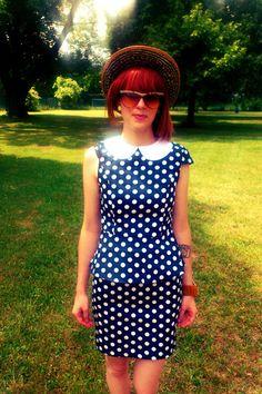 50s-inspired peplum dress