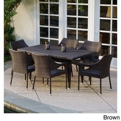 Cliff 7-piece Outdoor Dining Set by Christopher Knight Home (