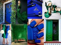 Emerald Green and Royal Blue themed