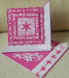 A Passion For Cards: To My little Star - Twisted Easel card Fun Fold Cards, Folded Cards, Tonic Christmas Cards, Tonic Cards, Studio Cards, Anna Griffin Cards, Kids Birthday Cards, Shaped Cards, Easel Cards