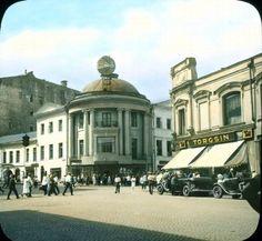 Torgsin storefront, 1931. Редчайшие снимки цветной Москвы 1931 года.