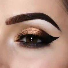 White Eye Makeup, Bronze Eye Makeup, Pretty Eye Makeup, Smoky Eye Makeup, Eye Makeup Steps, Simple Eye Makeup, Eyeshadow Makeup, Gothic Makeup Tutorial, Steampunk Makeup