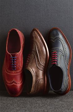 Allen Edmonds 'Neumok' brogue collection-Charles' owns the blue and brown