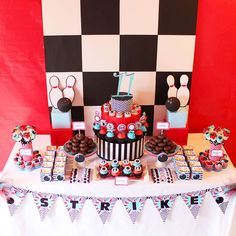 bowling party Birthday Party Ideas | Photo 69 of 70 | Catch My Party