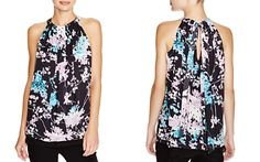 """DIANE von FURSTENBERG Lexi Floral Stretch Silk Top..  This is my """"go to"""" top for going out.  Like the loose fit around the middle and that it shows my arms"""