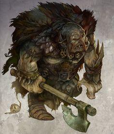 Great Orc by JonHodgson.deviantart.com on @deviantART