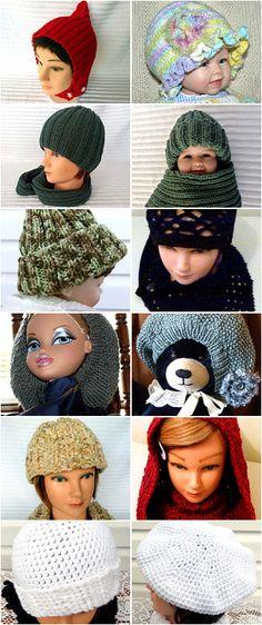 Hats, caps, tams, scoodies, beanies for sale at: www.etsy.com/shop/larainerosehandiworx