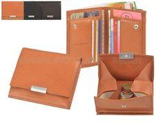 Sonnenleder WIENFLUSS G - Leder Portemonnaie (6KF) Wiener Schachtel Münzbox Geldbörse - 3 Farben