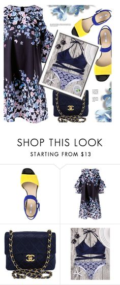 """""""Blue"""" by monmondefou ❤ liked on Polyvore featuring Geox, Chanel, bikini and summerdress"""