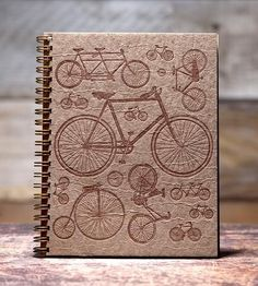 #Bicycle #Notebook by Bison Bookbinding & Letterpress: