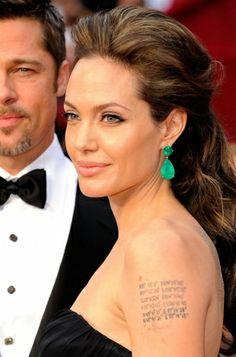 Angelina Jolie's iconic Oscars half up hairstyle