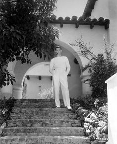Clark Gable at his home, 1932.