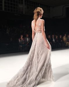 Romantic + ethereal are the best words to describe Marco & María's stunning new collection seen here in Barcelona at Barcelona Bridal Week! Lots of pretty hues + intricate details Wedding Dress With Veil, Wedding Dress Styles, Barcelona, Princess Ball Gowns, A Line Gown, Gowns With Sleeves, Bridal Fashion Week, Culture, Green Wedding Shoes