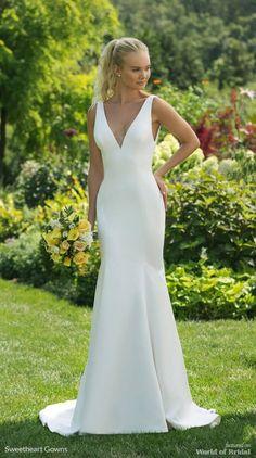 Homemade Crepe Wedding Dress