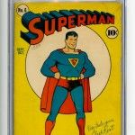 Superman Comic Book #6 CGC 5.5 OW-W Pages Front