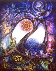 Tree of Life Art :: Visionary Art of Willow Arlenea - Celtic Fairy Tree Magic Fantasy Kunst, Fantasy Art, Elfen Fantasy, Fairy Tree, Celtic Tree Of Life, Tatoo Art, Celtic Art, Visionary Art, Art Plastique