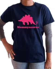 Mommy dinosaur tshirt personalized adult women by PricelessKids, $20.00
