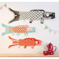 タペストリー(tapestry)としてもかわいいフランス生まれの鯉のぼり【レビュー書いて送料無料】MadameMo/マダムモーこいのぼりLサイズこどもの日(子供の日)の贈り物やプレゼント、出産祝いに!(北欧)(楽ギフ_)(smtb-k)(ky)