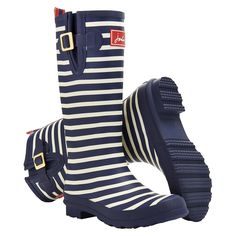 Women's Joules® Rain Boot - Blue Stripe : Target
