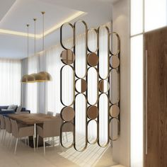 Wall Cladding Designs, Living Room Partition Design, Living Room Divider, Room Partition Designs, Wardrobe Interior Design, Coffee Shop Interior Design, Lobby Interior, Interior Stairs, Murs Mobiles