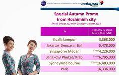 Thông Tin Du Lịch: Malaysia Airlines khuyến mãi vé chỉ 3.368.000vnd