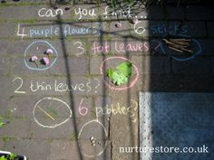 kids gardening activities chalk, via Flickr.