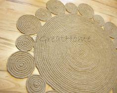 Hallway Rug 9 foot rug Twine Crochet rug Long Runner rug