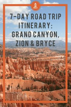 Perfect 7 Day Road Trip Itinerary : Grand Canyon Plus Zion National Park to Bryc. - Perfect 7 Day Road Trip Itinerary : Grand Canyon Plus Zion National Park to Bryce Canyon National Park Tours, Grand Canyon National Park, Parc National, National Forest, Arizona Road Trip, Arizona Travel, Arizona State, New Orleans, New York