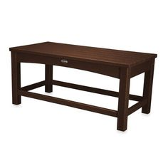POLYWOOD® Club Coffee Table in Mahogany | Bed Bath & Beyond $269.99