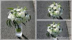 The couple had a late Spring wedding, which was perfect because the bride loves peonies. She wanted a natural looking bouquet with mostly white and a dash of blue. We decided to use white peonies, roses and dendrobiums; accentuated with some thistles, limonium and eucalyptus. Bridal Bouquet Blue, Blue Bridal, Wedding Bouquets, Wedding Flowers, Wedding Flower Arrangements, Floral Arrangements, Thistle Bouquet, White Peonies, Spring Wedding