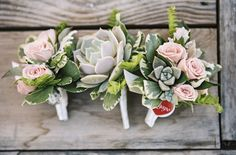 Seriously obsessed with these succulent-filled boutonnieres. Photography by braedonphotography.com, Floral Design by rockrosefloral.com
