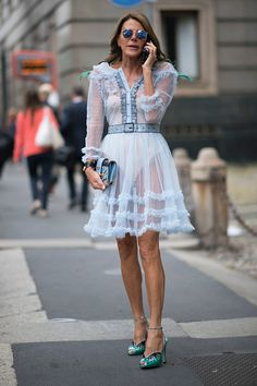 Anna Dello Russo seen during Milan Fashion Week Spring/Summer 2017 on September 22 2016 in Milan Italy