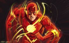 Digital painting of The Flash