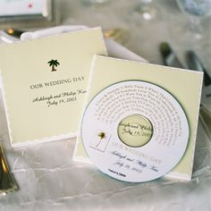 Music themed wedding - great idea - could make a mix of the music that was played on your wedding day as a gift for everyone! cheap and easy! :)