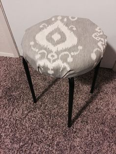 Diy ikea Marius stool and pillow case #ikeahack #white #gold ...
