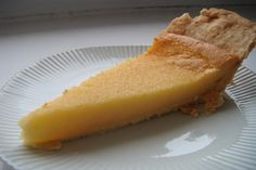 Buttermilk Pie (Used keffir.  Decrease sugar to 1 c. or less; consider adding lemon,  bourbon, cinnamon or nutmeg.)