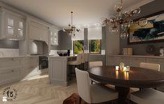 Klasyczna kuchnia z jadalnią - zdjęcie od Femberg Architektura Wnętrz - Kuchnia - Styl Klasyczny - Femberg Architektura Wnętrz Kitchens, Kitchen Cabinets, Interior Design, Home Decor, Kitchen Cupboards, Design Interiors, Homemade Home Decor, Home Interior Design, Kitchen