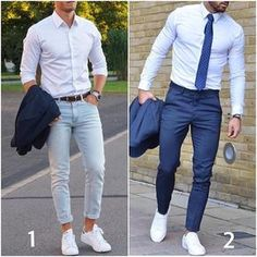 1 or 2? Which is your preferred casual? #modernmencasualstyle