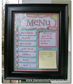 Annual Menu Planner Collection Printable by mycomputerismycanvas