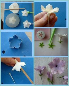 65 Ideas Cake Decorating Buttercream Flowers How To Make For 2019 Sugar Paste Flowers, Icing Flowers, Buttercream Flowers, Edible Flowers, Diy Flowers, Paper Flowers, Buttercream Cake, Fondant Flower Tutorial, Fondant Flower Cake