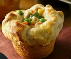 Pillsbury grands mini pot pies. These are so good!! Had them tonight. Here is the link to the recipe: http://www.pillsbury.com/recipes/grands-mini-chicken-pot-pies/0e592952-6d19-403c-b156-882da7be33cf