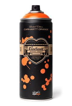 nice branding packaging design - Carhartt x Montana Colors Limited Edition Spray Can