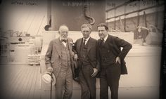 Louis Brandeis, flanked by Rabbi Stephen Samuel Wise, founding secretary of the American Federation of Zionists (right) and Nathan Straus, co-owner of Macy's