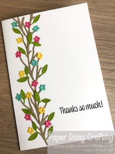 Paper Daisy Crafting: Tiny flower border card with the Peach dies Make Tutorial, Mini Album Tutorial, Little Flowers, Tiny Flowers, Paper Daisy, Ink Stamps, 90th Birthday, Mini Albums, I Card