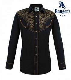 Chemises country western ref:Crockett Stars/&Stripes