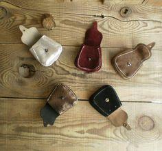leather key holder mini bag car key holder jewelry by RadiLeather, $12.00