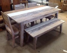 Three color Mango Wood Dining Table Chairs and Bench. #SoutheasternSalvage #HomeEmporium #homedecor