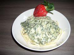 Knoblauch-Spinat-Spaghetti